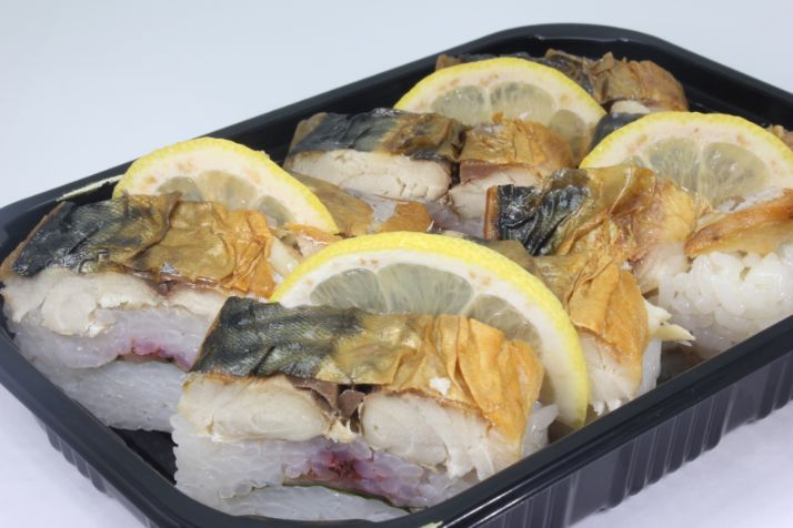 焼き鯖の押し寿司一本